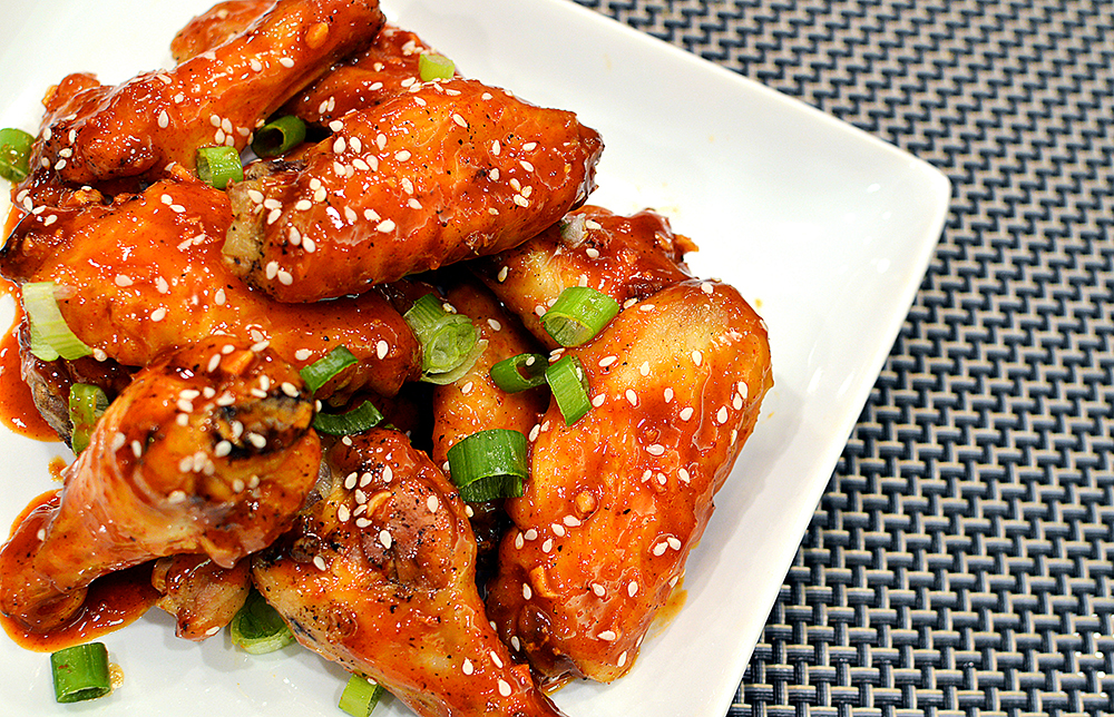 Chicken Wings with Angry Sauce   That Square Plate