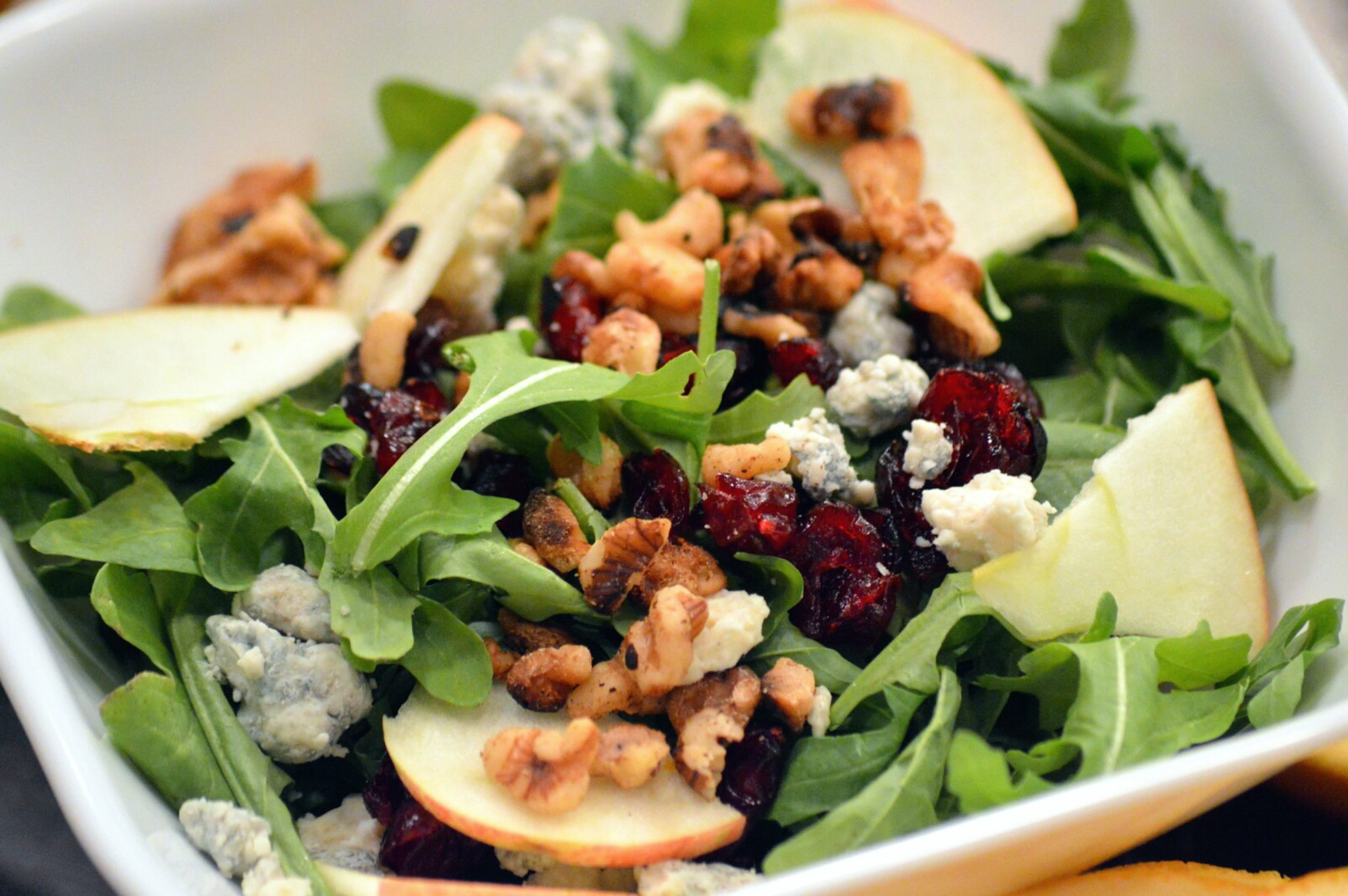 Apple Walnut Cranberry Salad | That Square Plate