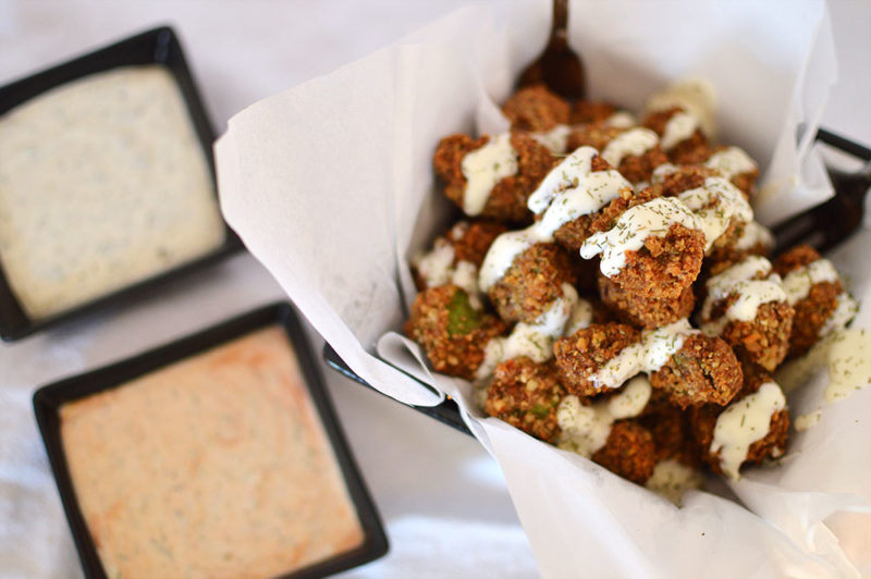Pecan Encrusted Okra from @thatsquareplate