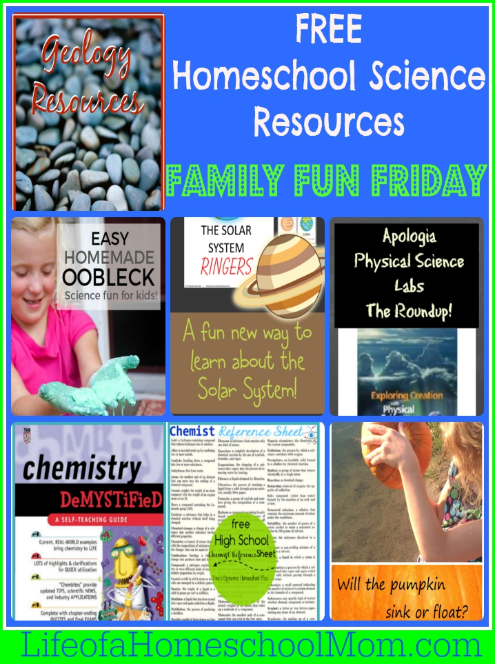 Free Homeschool Science Resources at Family Fun Friday