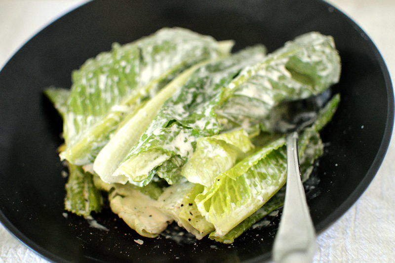 Romaine Hearts with Caesar Salad Dressing (5)