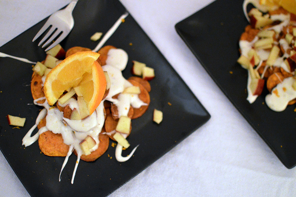 Sweet Potato Dessert Nachos from thatsquareplate.com