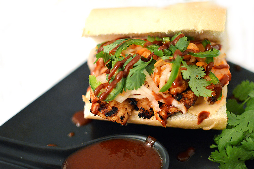 Chicken Bahn Mi from thatsquareplate.com