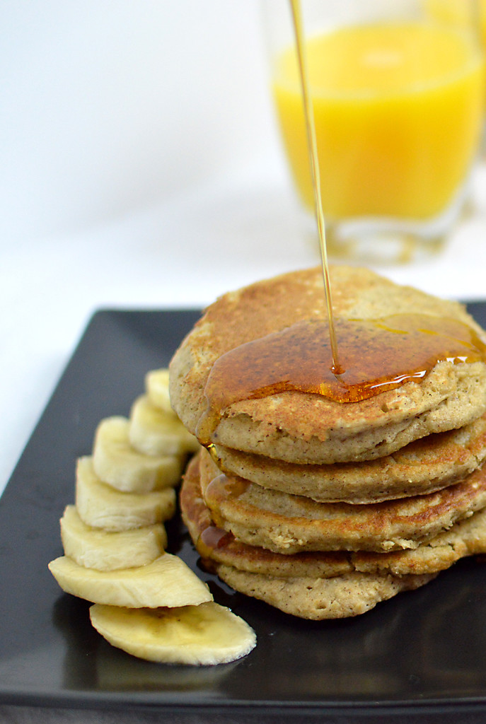 Nead a healthy, vegan, gluten-free breakfast?? These pancakes are the perfect option! Such a simple recipe, and the pancakes taste like banana bread! The recipe is from BeachBody's FIXATE cookbook -- enter the giveaway for THIS cookbook on my site through November.