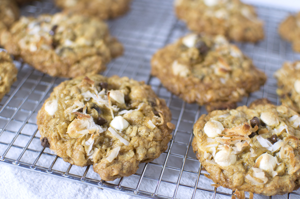 Chocolate-Chip, Coconut Oatmeal Cookies