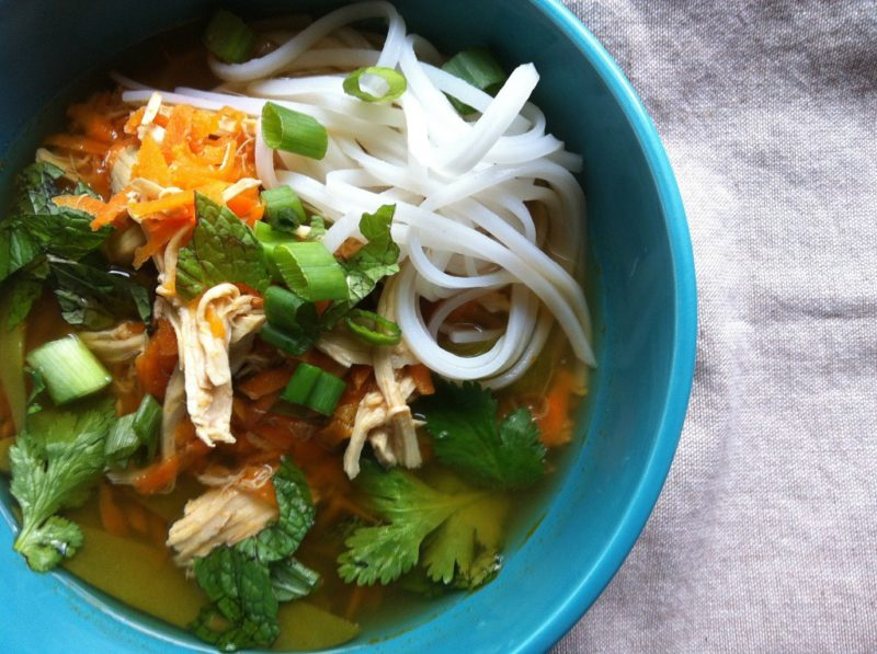 Spicy Asian Chicken and Noodle Soup from A Cedar Spoon