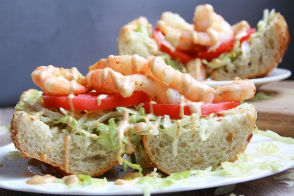 Grilled Shrimp Po-Boys with Remoulade from Where Latin Meets Lagniappe