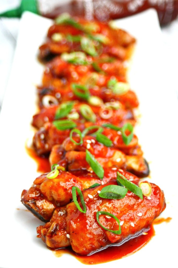 Sriracha Chicken Wings from Killing Thyme