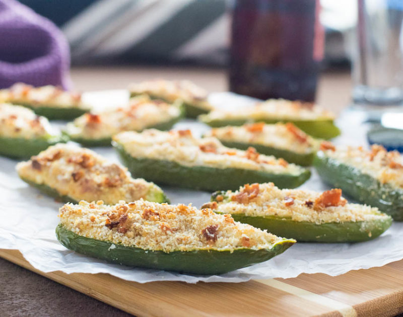 Bacon and Beer Jalapeno Poppers in the Oven from Fox Valley Foodie