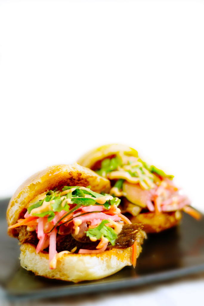 These mini banh mi sandwiches are small and easy to handle and FULL of so much flavor, your tastebuds will have a party!
