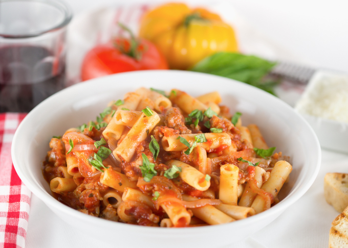 Sweet & Spicy Ziti with Sausage from Joy in Every Season