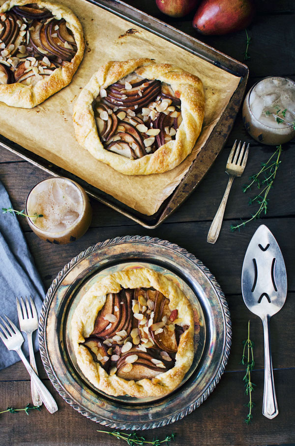 Mini Pear Almond Galettes