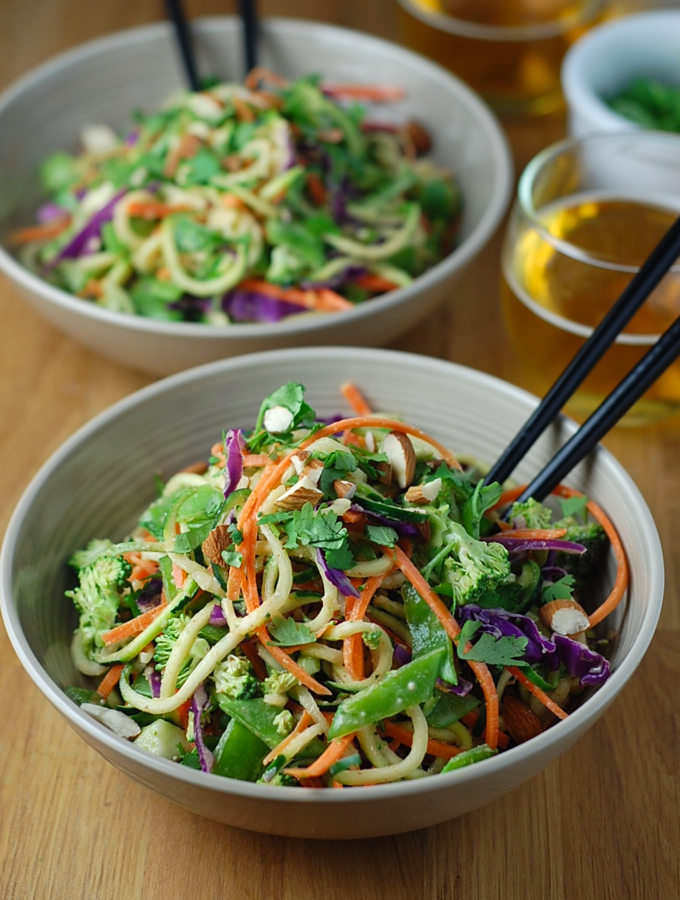 Raw Pad Thai with Spicy Almond Sauce