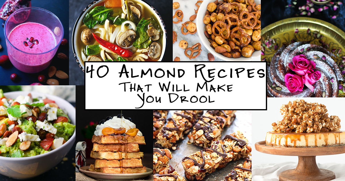 40 Almond Recipes That Will Make You Drool: Celebrate National Almond Day with 40 beautiful and tasty almond recipes from some of the web's favorite food bloggers!