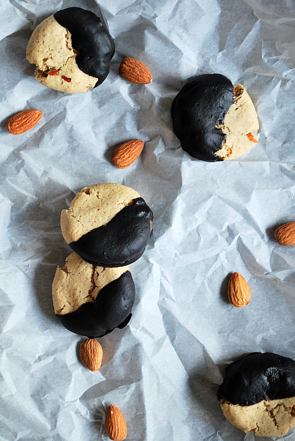 Fudge-Dipped Almond Cookies