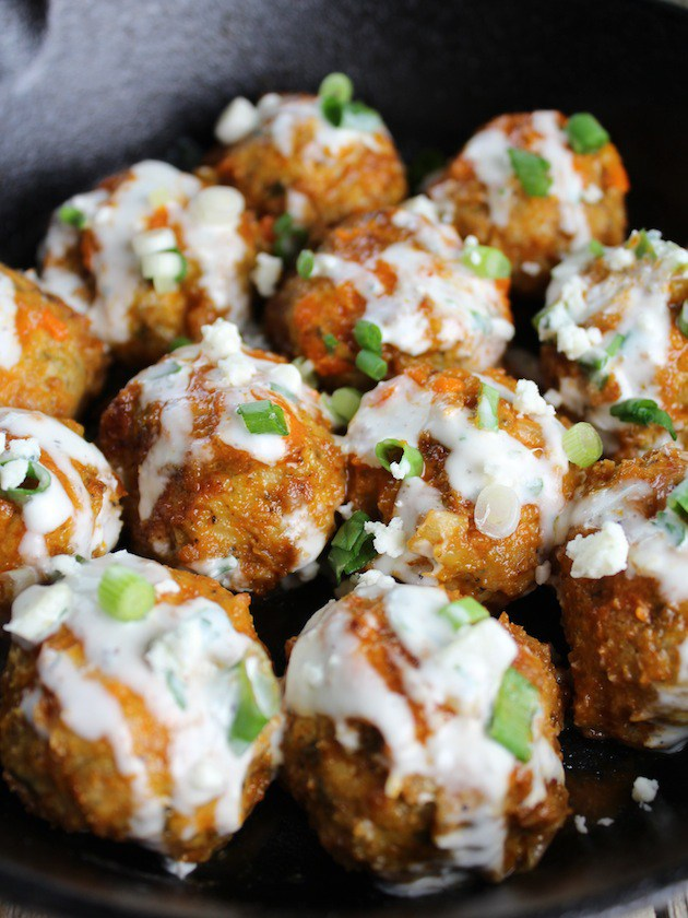 Buffalo Chicken Meatballs from Taste and See