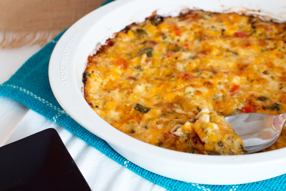 Cheesy Corn and Crab Dip