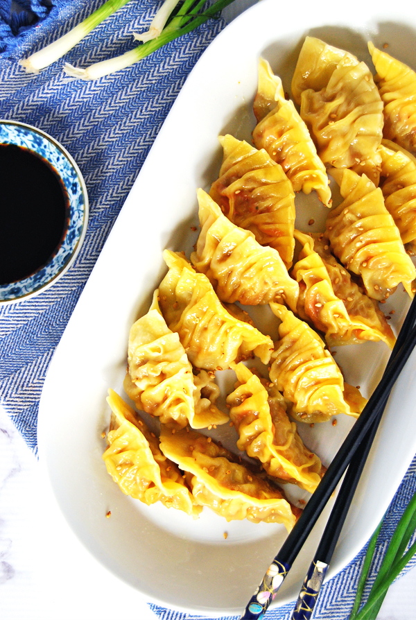 Chicken and Shrimp Potstickers from The Charming Detroiter