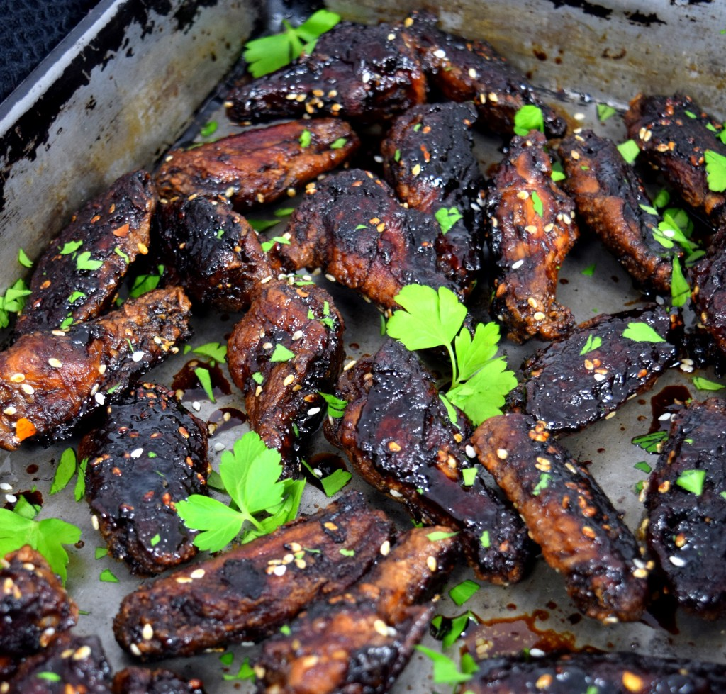 Crusted Fried Baked Japanese Chicken Wings from Pretty Practical Pantry