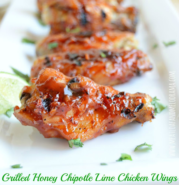 Grilled Honey Chipotle Lime Chicken Wings from Meatloaf and Melodrama