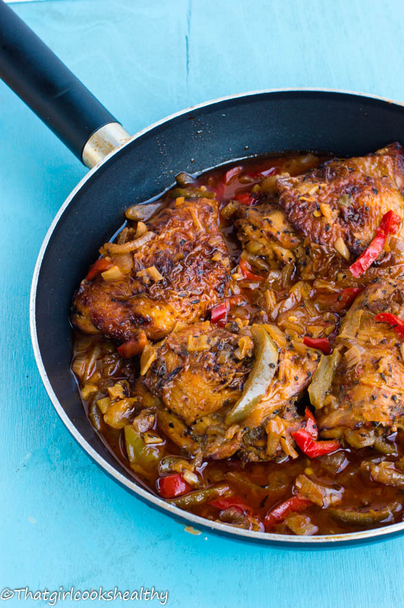Jamaican Brown Stew Chicken from That Girl Cooks Healthy