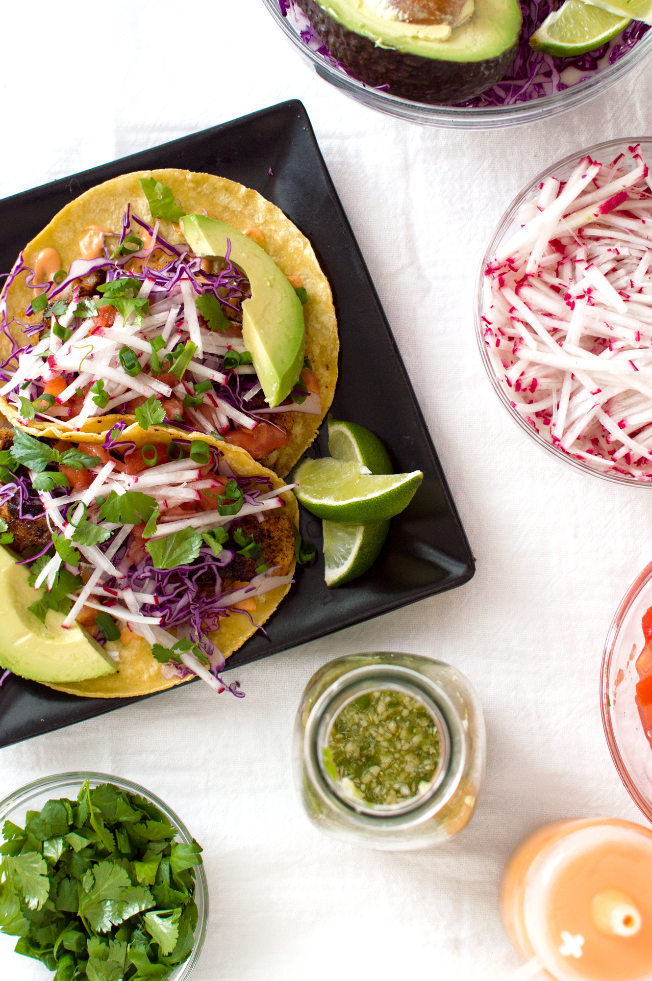Fish tacos are my favorite! And these from Chrissy Teigen's new #CravingsCookbook did NOT disappoint. I love the spice and fresh vegetables (plus these are super easy!)