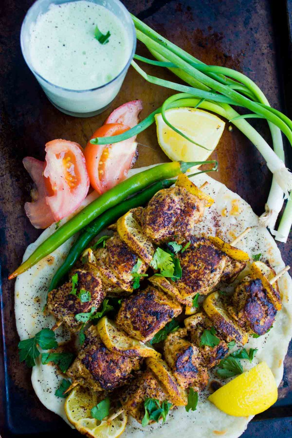 Turkish Style Chicken Skewers from Two Purple Figs