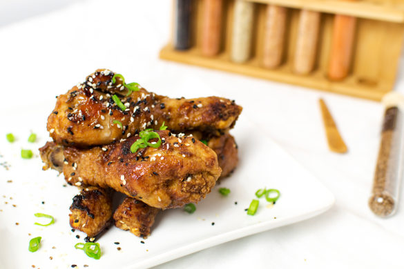 These drums are inspired by a wing recipe from Pretty Practical Pantry.. he obviously knows how to cook his wings. These were perfect!