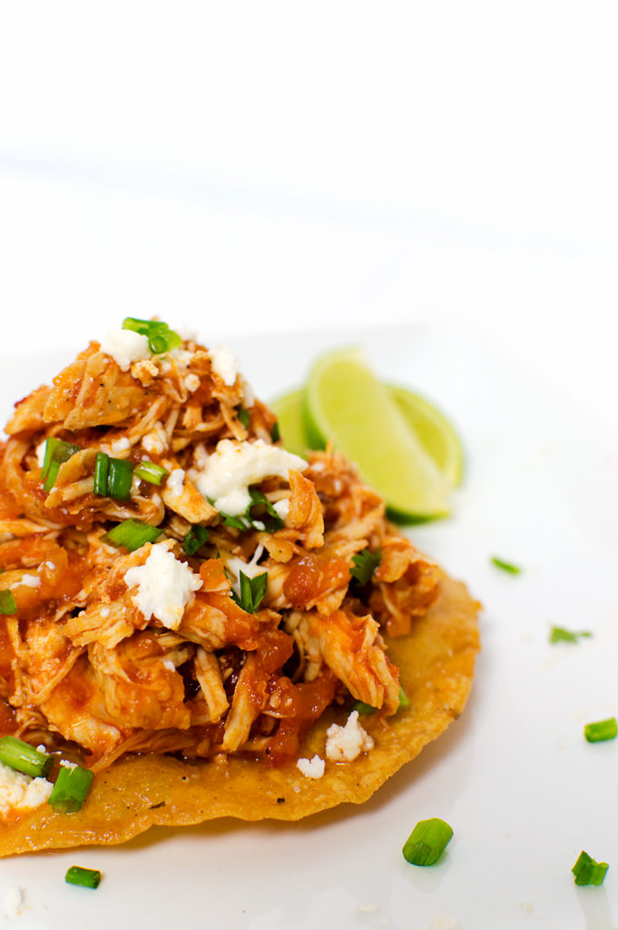 Chicken Tinga Tostadas | That Square Plate