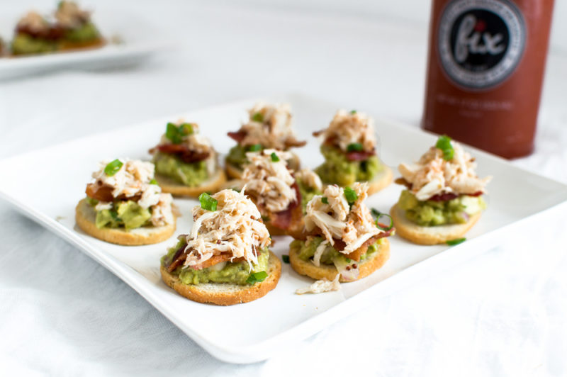 Crab, Bacon & Guacamole Crostinis (2)