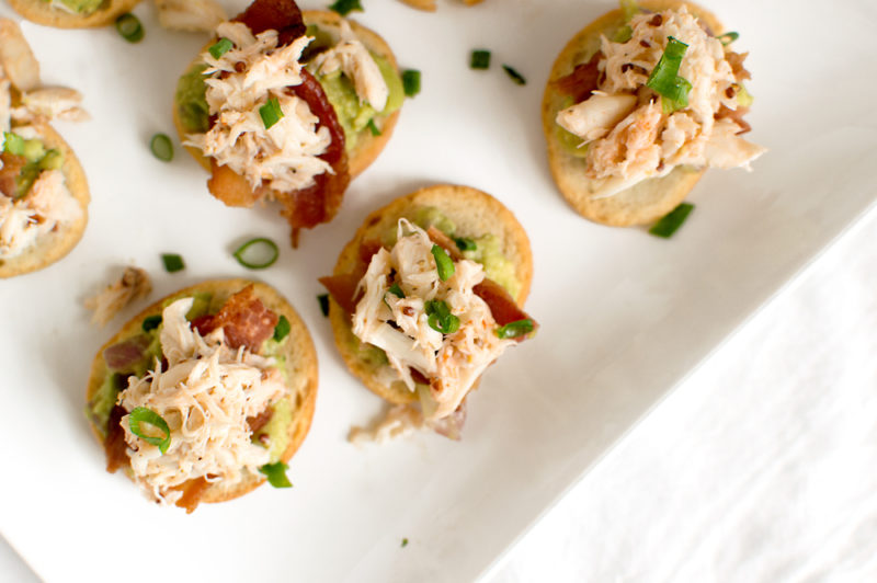 Crab, Bacon & Guacamole Crostinis