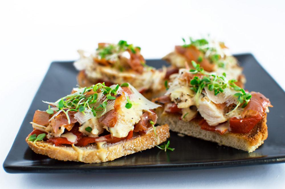 Chicken Caesar Crostini | That Square Plate